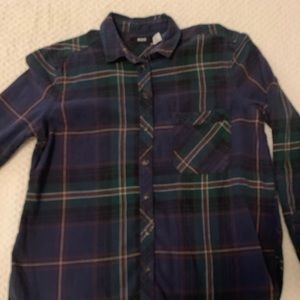 BDG XS Blue and Green Flannel